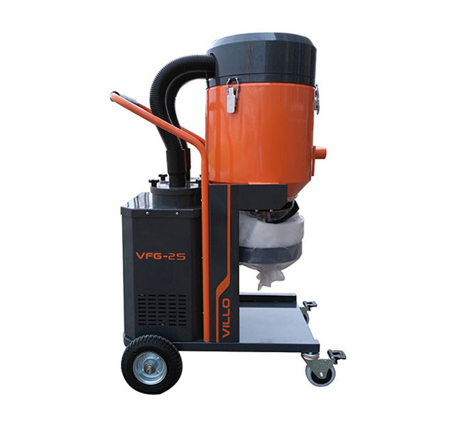 Single phase concrete vacuum cleaners vfg 2s villo for Cleaning concrete dust