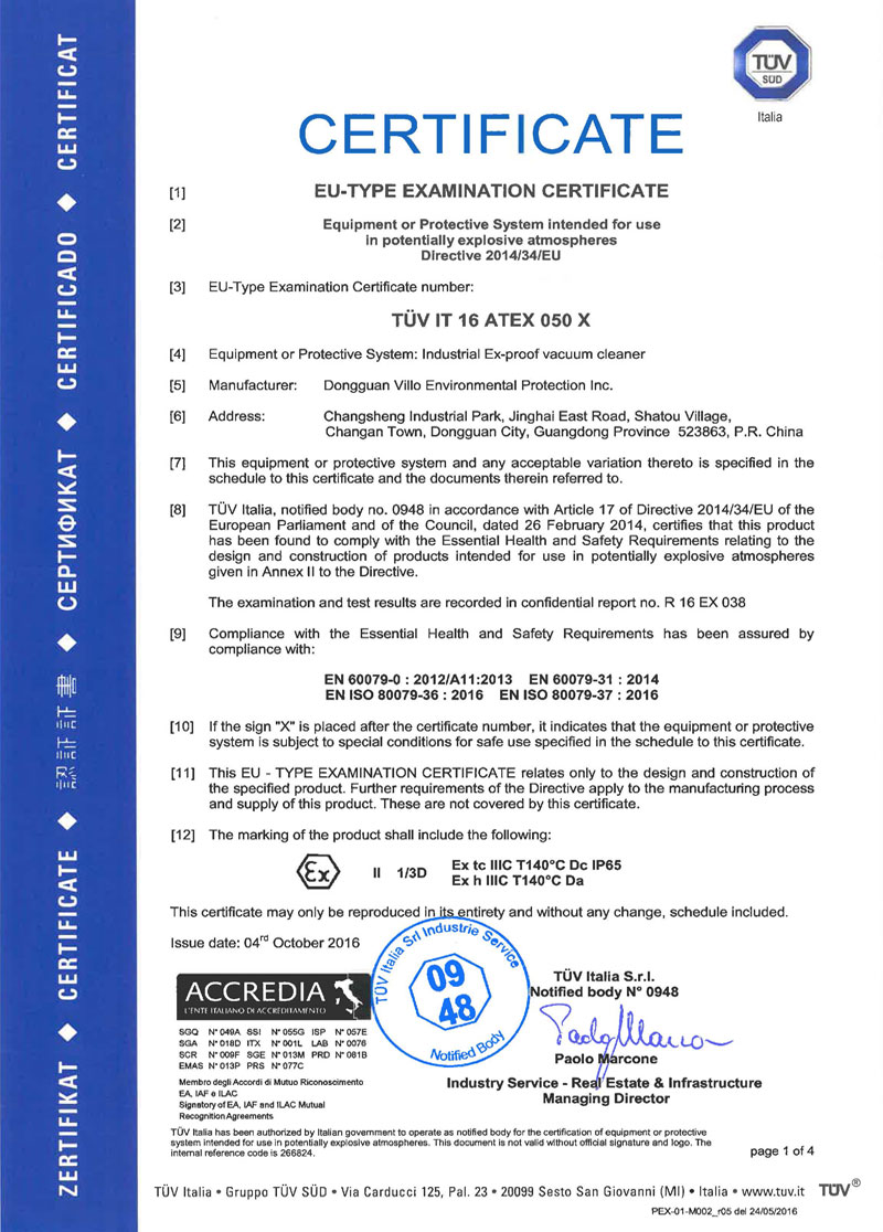 germany tuv explosion proof certification