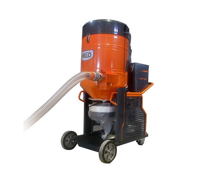 Three phase dust extractor for big floor grinders vfg for Cleaning concrete dust